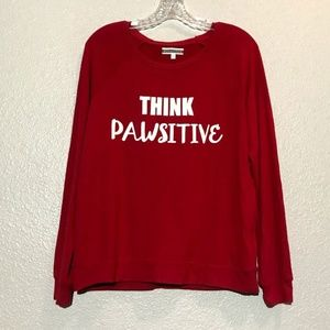 PJ Salvage Think Pawsitive Red Long Sleeve Pajamas